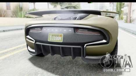 GTA 5 Pfister 811 IVF para GTA San Andreas vista interior