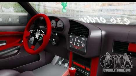 BMW M3 E36 Sloboz Edition para GTA San Andreas vista interior