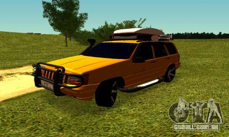 Jeep Grand Cherokee para GTA San Andreas vista interior
