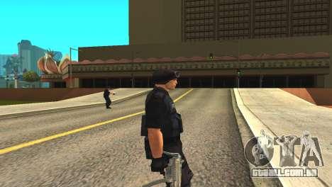 Original SWAT pele sem máscara para GTA San Andreas segunda tela