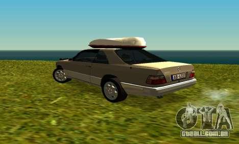 Mercedes Benz 320E para GTA San Andreas vista direita