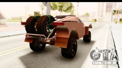 GTA 5 Desert Raid SA Lights PJ para GTA San Andreas traseira esquerda vista