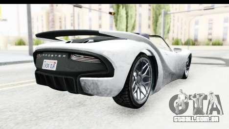 GTA 5 Pfister 811 SA Lights para GTA San Andreas esquerda vista