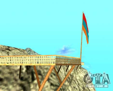 Armenian Flag On Mount Chiliad V-2.0 para GTA San Andreas segunda tela