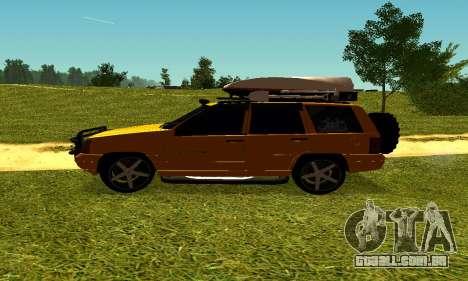 Jeep Grand Cherokee para GTA San Andreas vista traseira