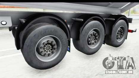 Trailer Volvo Dumper para GTA San Andreas vista traseira