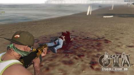 GTA 5 Extreme Blood 0.1 décimo imagem de tela