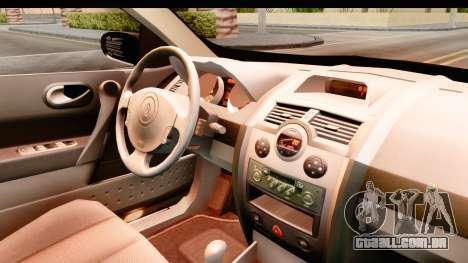 Renault Megane 2 Sedan 2003 para GTA San Andreas vista interior
