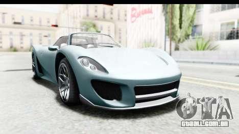 GTA 5 Pfister 811 para GTA San Andreas traseira esquerda vista