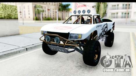 GTA 5 Trophy Truck IVF para GTA San Andreas vista inferior