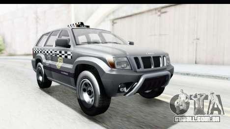 GTA 5 Canis Seminole Taxi para GTA San Andreas vista direita