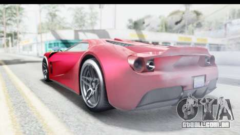 GTA 5 Vapid Bullet Face FMJ para GTA San Andreas esquerda vista