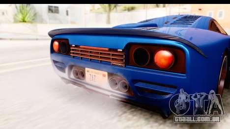 GTA 5 Progen Tyrus IVF para GTA San Andreas vista interior