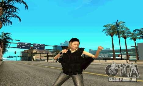 Feminino instrutor da SWAT para GTA San Andreas quinto tela