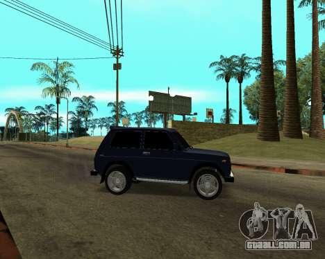 Niva 2121 Armenian para GTA San Andreas vista superior