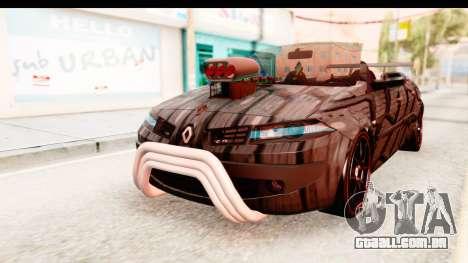 Renault Megane Spyder Full Tuning v2 para GTA San Andreas traseira esquerda vista