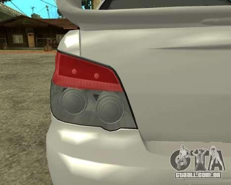 Subaru Impreza Armenian para GTA San Andreas vista interior