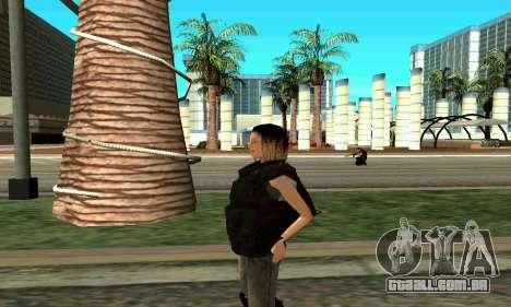 Feminino instrutor da SWAT para GTA San Andreas por diante tela