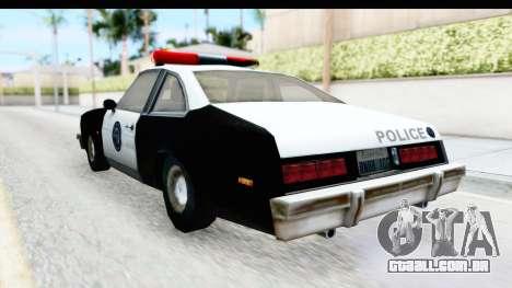 Pontiac Ventura LSPD from Silent Hill 2 para GTA San Andreas traseira esquerda vista