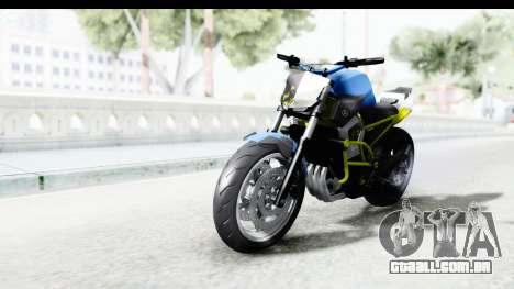 Yamaha Cage Sic para GTA San Andreas traseira esquerda vista