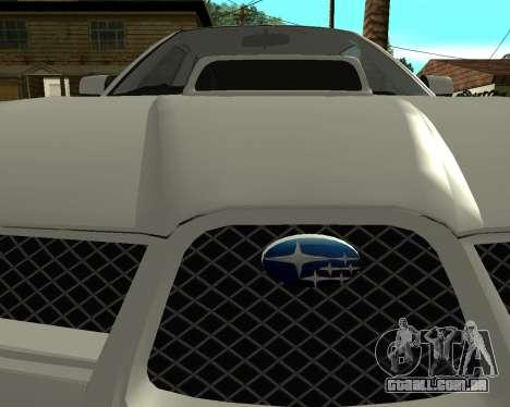 Subaru Impreza Armenian para GTA San Andreas vista direita