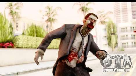 Left 4 Dead 2 - Zombie Suit para GTA San Andreas