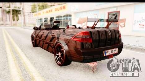 Renault Megane Spyder Full Tuning v2 para GTA San Andreas esquerda vista