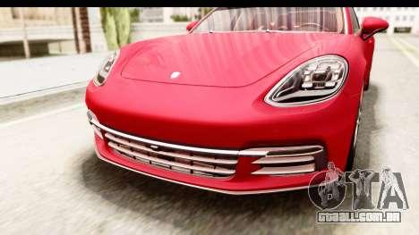 Porsche Panamera 4S 2017 v5 para vista lateral GTA San Andreas