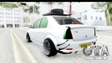 Dacia Logan Coil para GTA San Andreas esquerda vista