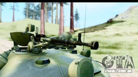 T-62 Wood Camo v3 para GTA San Andreas vista traseira