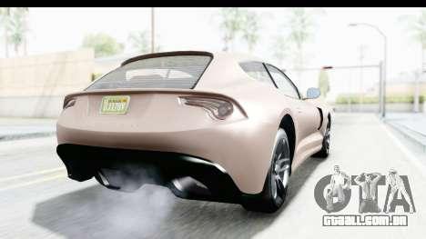 GTA 5 Grotti Bestia GTS with MipMap para GTA San Andreas vista direita