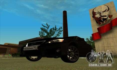 Lexus IS-F para GTA San Andreas vista direita