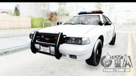 Sri Lanka Police Car v3 para GTA San Andreas traseira esquerda vista