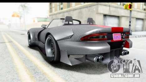 GTA 5 Bravado Banshee 900R Carbon Mip Map para GTA San Andreas esquerda vista