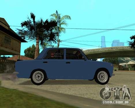 VAZ 2101 Arménia para GTA San Andreas traseira esquerda vista