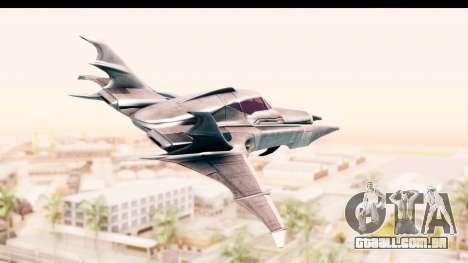 Batman Arkham Asylum - Batwing para GTA San Andreas esquerda vista