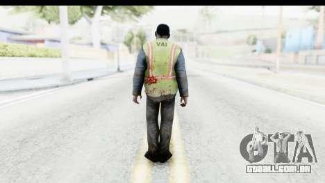 Left 4 Dead 2 - Zombie Baggage Handler para GTA San Andreas terceira tela