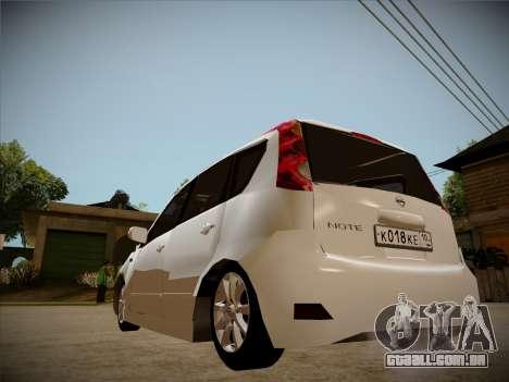 Nissan Note 2008 para vista lateral GTA San Andreas