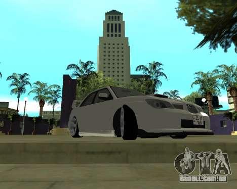 Subaru Impreza Armenian para GTA San Andreas esquerda vista