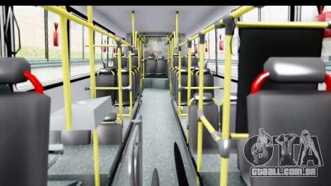 Bus La Favorita Ecotrans para GTA San Andreas vista interior