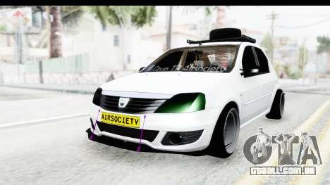 Dacia Logan Coil para GTA San Andreas traseira esquerda vista