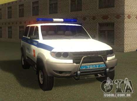 UAZ Patriota da Polícia v1 para GTA San Andreas