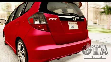 Honda Fit Sport 2009 para GTA San Andreas vista inferior