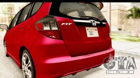 Honda Fit Sport 2009 para GTA San Andreas vista inferior
