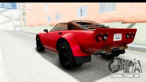 GTA 5 Lampadati Tropos IVF para GTA San Andreas esquerda vista