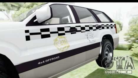 GTA 5 Canis Seminole Taxi Milspec para GTA San Andreas vista traseira
