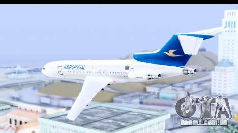 Boeing 727-200 Aeropostal para GTA San Andreas esquerda vista