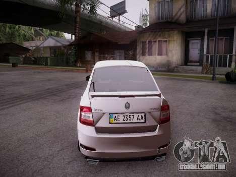 Skoda Octavia A7 R para GTA San Andreas vista traseira
