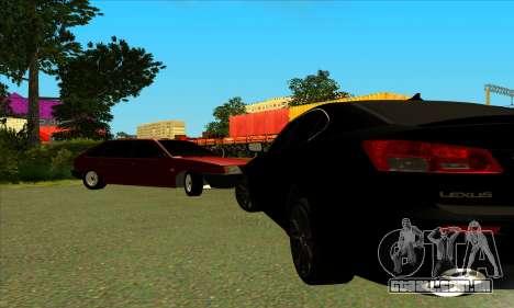Lexus IS-F para GTA San Andreas esquerda vista