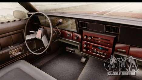 Chevrolet Caprice 1987 para GTA San Andreas vista interior